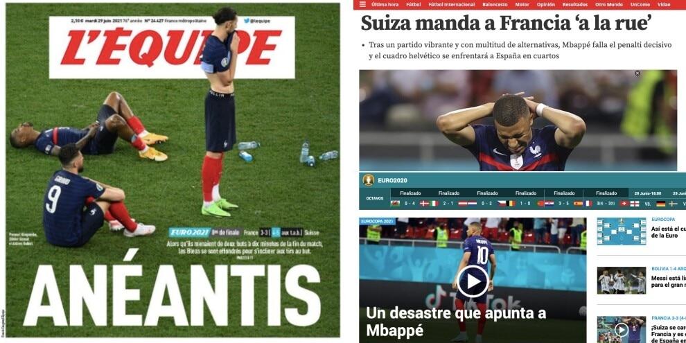 """""""Annientati"""": il flop della Francia sulla stampa estera"""