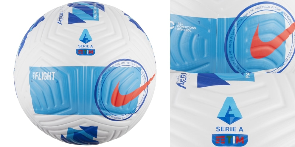 Le foto del nuovo pallone ufficiale della Serie A TIM 2021-2022