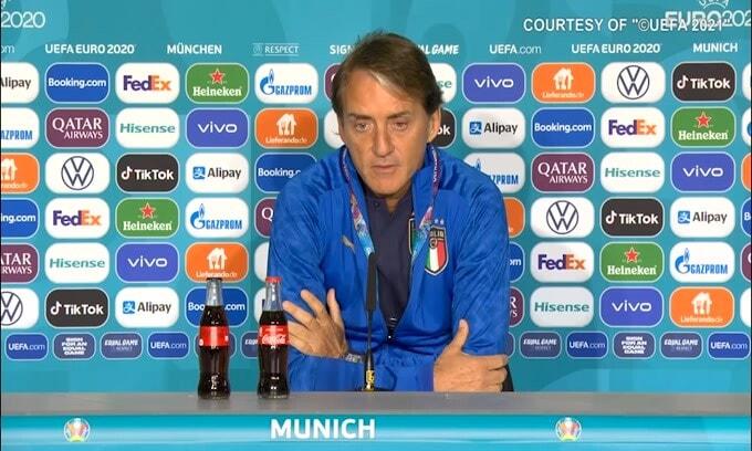 """Mancini: """"Il Belgio è la squadra più forte d'Europa"""""""