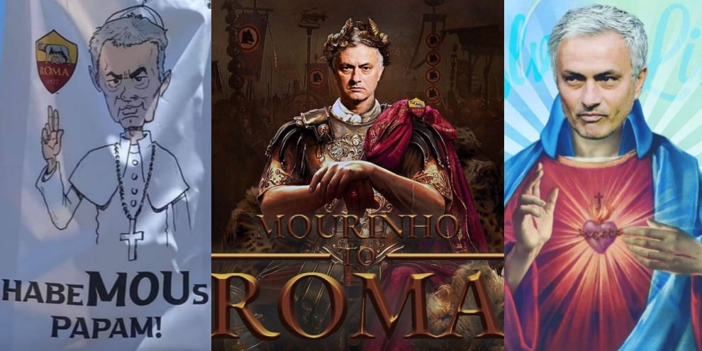 Mourinho-mania sui social, da papa a imperatore: l'ironia dei tifosi
