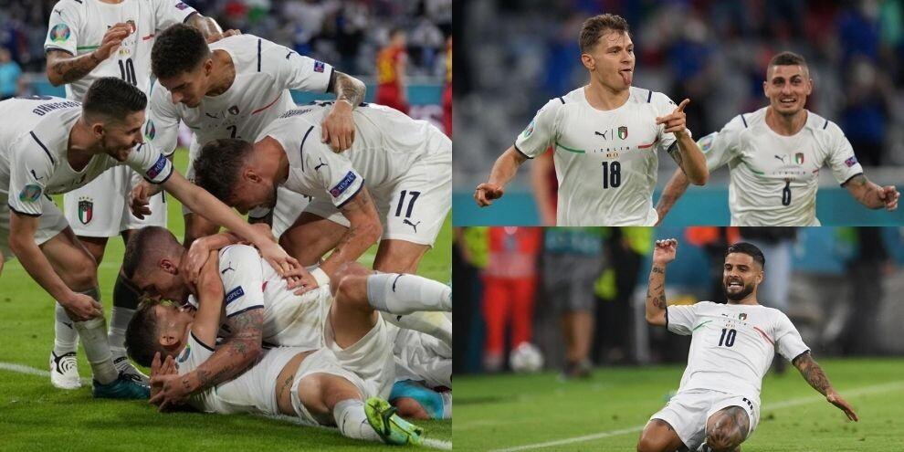 Italia in semifinale! Barella e Insigne show: Belgio ko