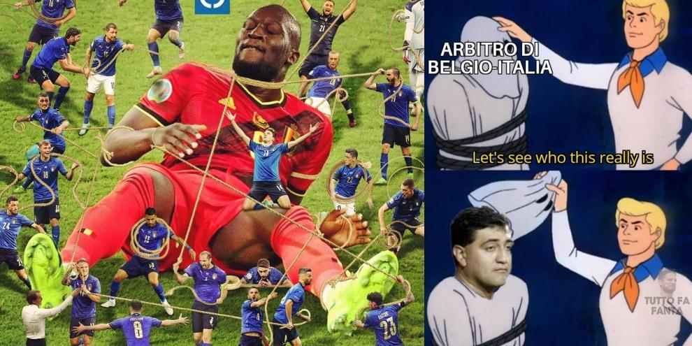 L'Italia annienta il Belgio: festa social, l'ironia è per l'arbitro!