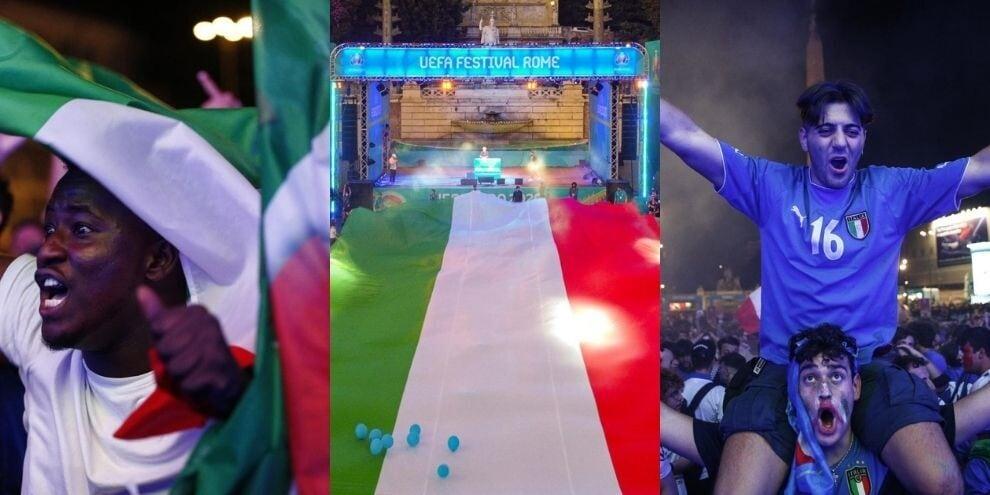 L'Italia vola in semifinale: festa azzurra a Piazza del Popolo
