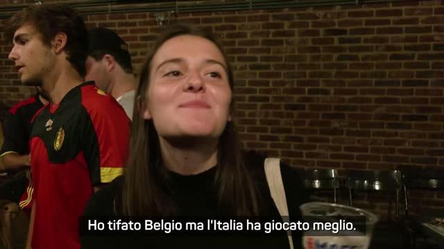 """I tifosi del Belgio da Bruxelles: """"L'Italia ha giocato meglio"""""""