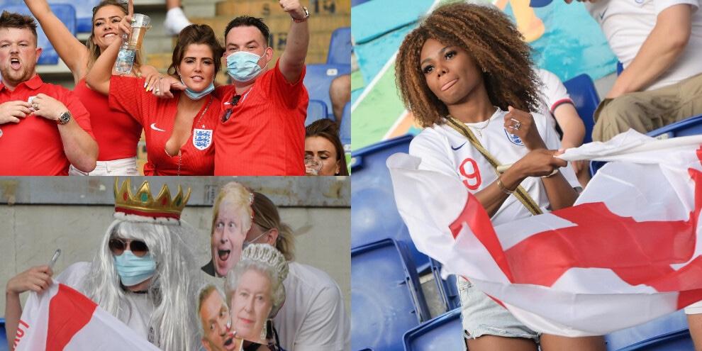 Inghilterra, fan show sugli spalti dell'Olimpico!