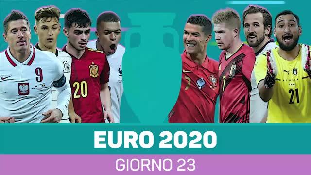 Euro 2020 - Il riassunto della 23ª giornata