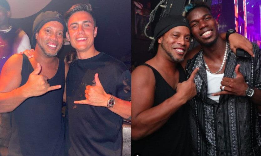 Ronaldinho, Dybala e Pogba insieme: che party a Miami FOTO