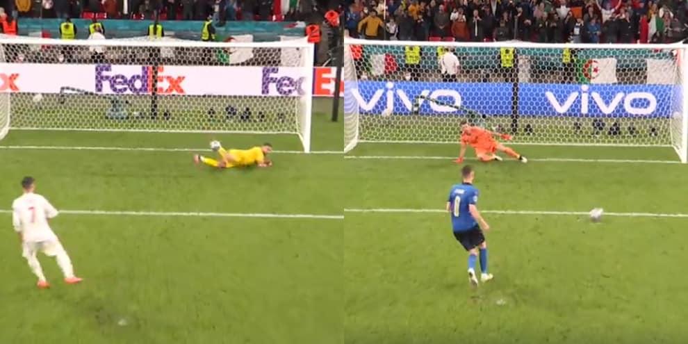 Italia-Spagna, la fotosequenza dei rigori: Morata sbaglia, gli azzurri no