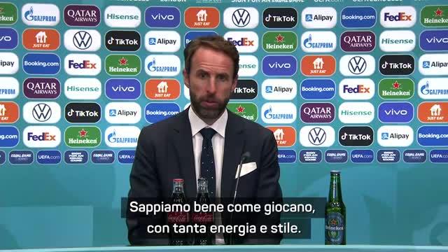 """Southgate: """"Italia fortissima, sarà una grande sfida"""""""