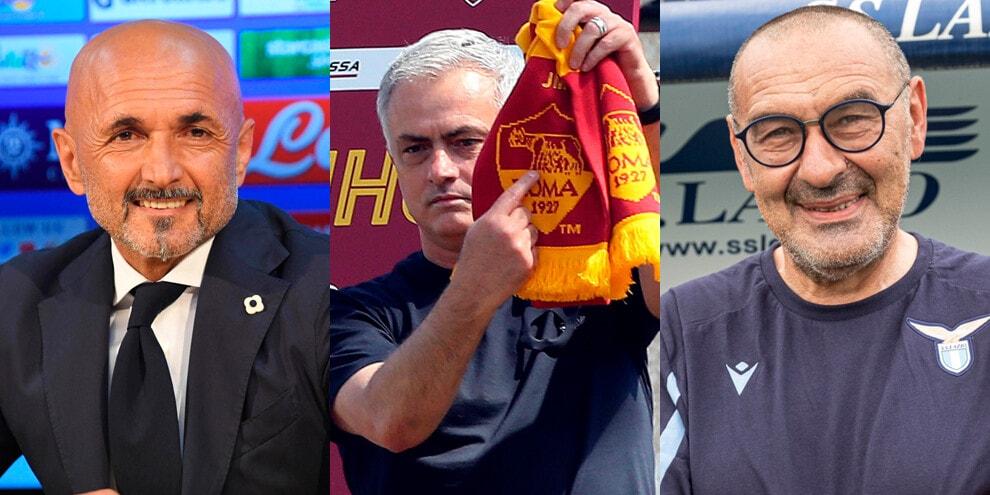 Da Spalletti a Mourinho e Sarri: ecco i 20 allenatori della Serie A