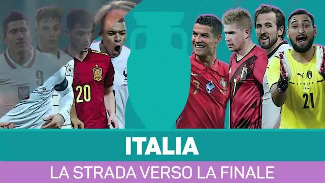Italia, la strada verso la finale di Euro 2020