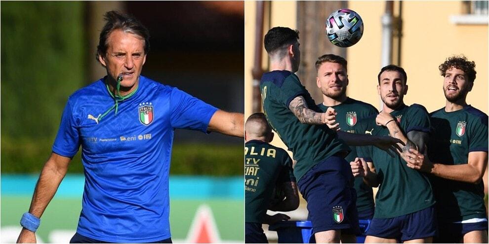Italia, ultimo allenamento a Coverciano prima della finale