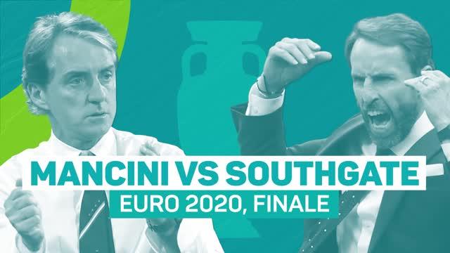 Euro 2020, Mancini contro Southgate, che duello in finale!