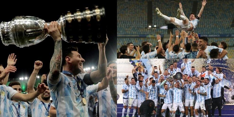 Argentina campione! Messi portato in trionfo insieme alla coppa