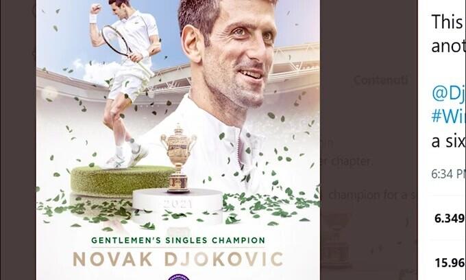 Wimbledon, Djokovic super: Berrettini battuto 3-1