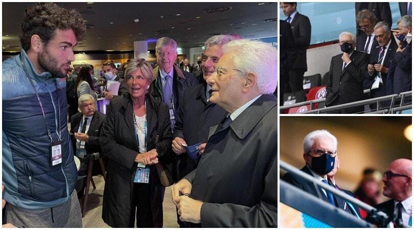 Italia-Inghilterra: Mattarella tifa per gli azzurri in tribuna
