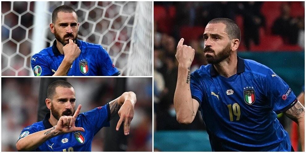 Italia-Inghilterra, Bonucci ammutolisce Wembley con la sua esultanza
