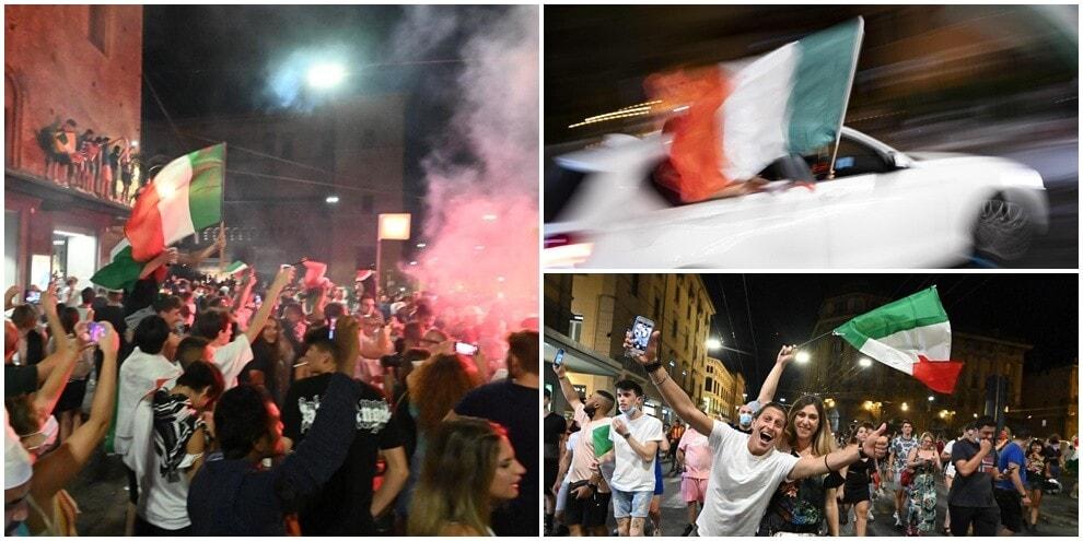 Italia campione d'Europa: festa e caroselli per gli azzurri
