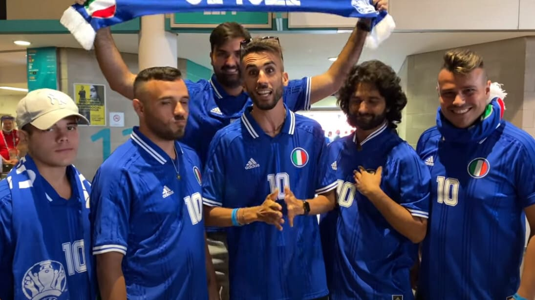 La live reaction degli Elites a Wembley durante Italia - Inghilterra
