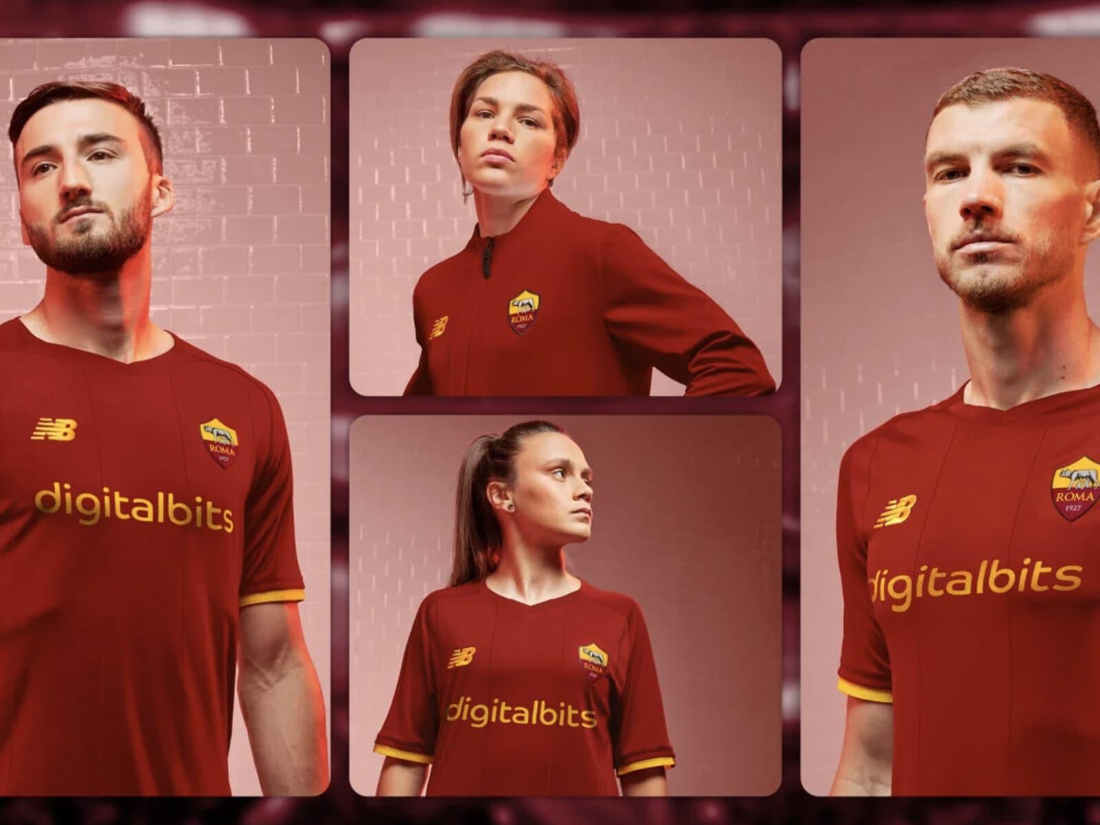 Roma, svelata la prima maglia da gara firmata New Balance FOTO