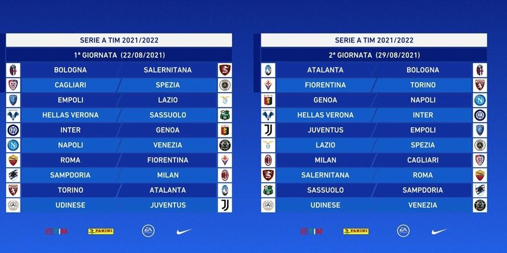 Calendario Serie A 2021/2022: tutte le giornate