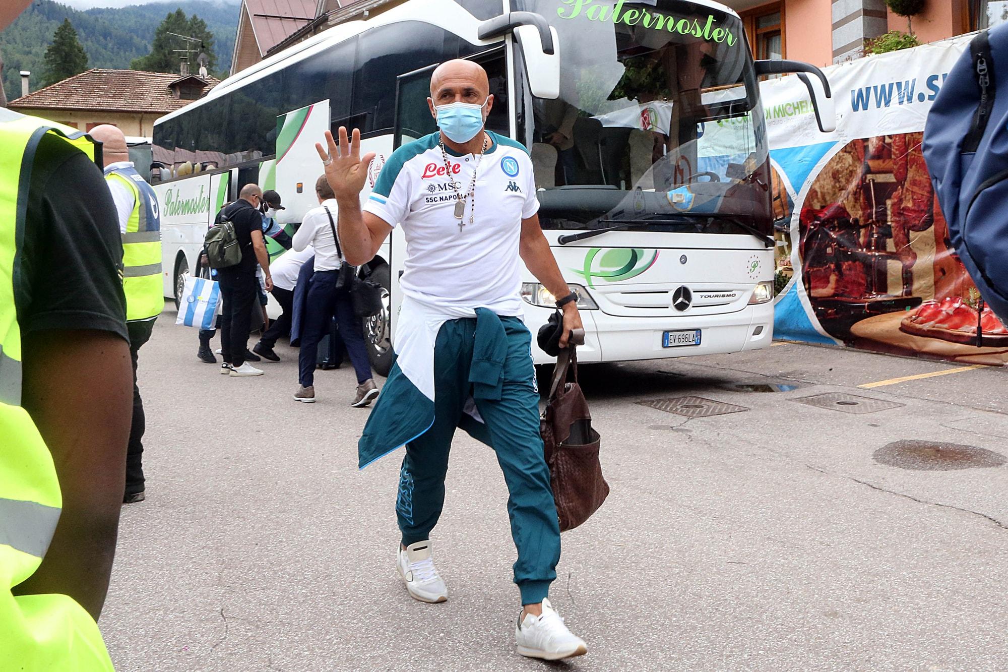 Il Napoli è arrivato a Dimaro: Spalletti davanti a tutti
