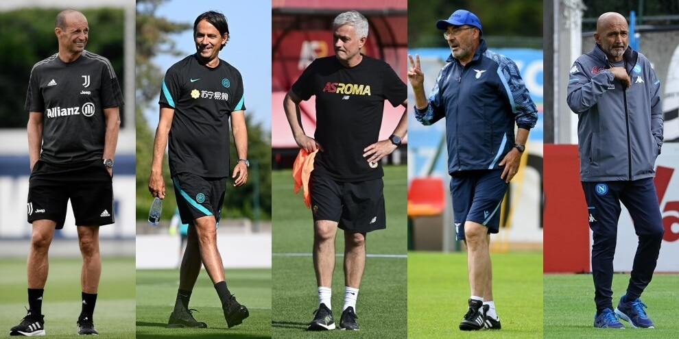 Serie A, da Allegri a Mourinho: i fenomeni sono in panchina