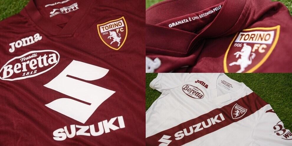 Il Torino presenta le nuove maglie per il 2021-2022