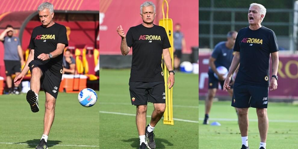 Roma, Mourinho prova il destro: show a Trigoria