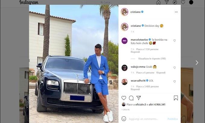 Ronaldo, post per svelare il futuro?