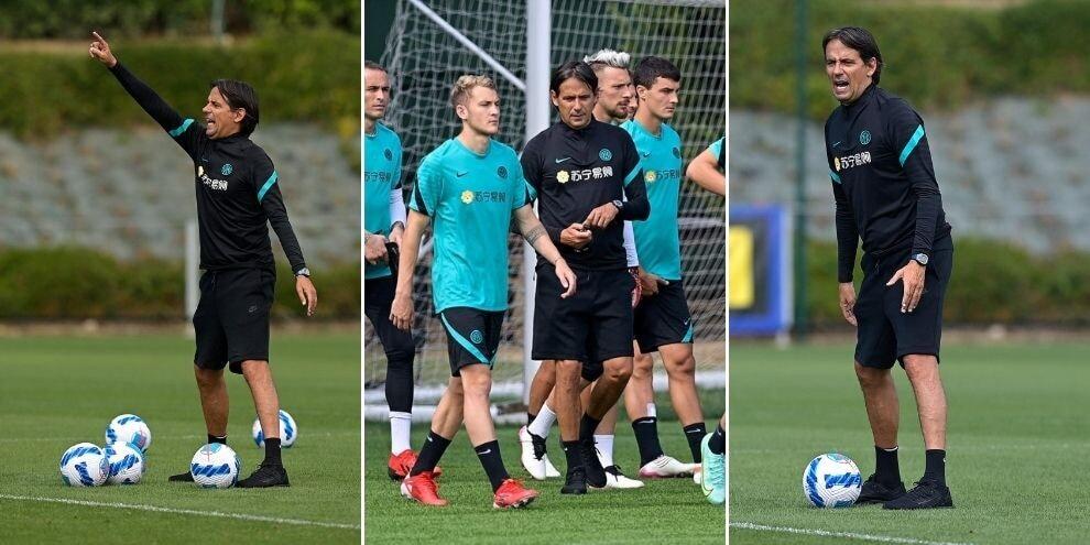 Inzaghi carica l'Inter: subito a lavoro dopo il Lugano
