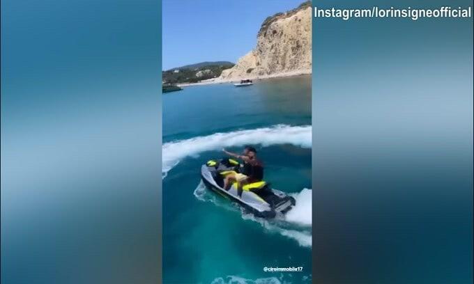 Insigne e Immobile, giro in moto d'acqua