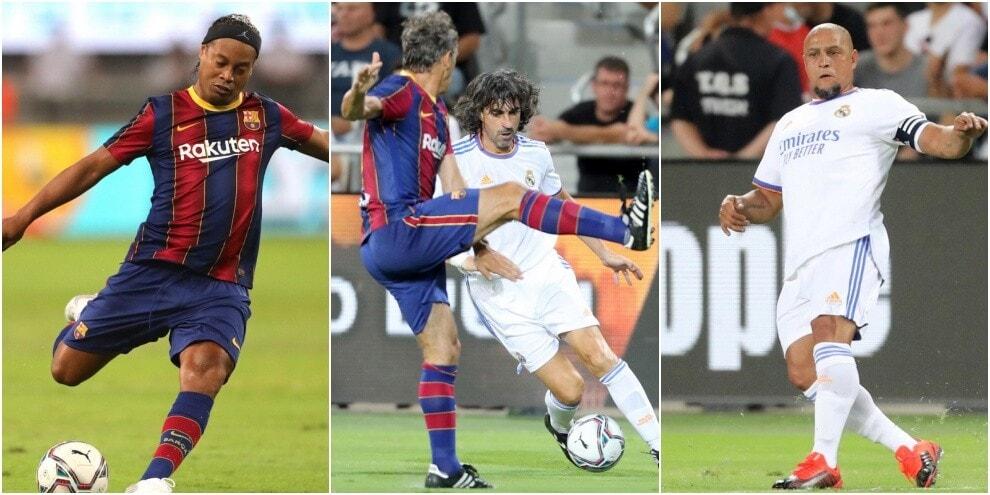 Da Ronaldinho a Roberto Carlos, che show El Clasico Legends