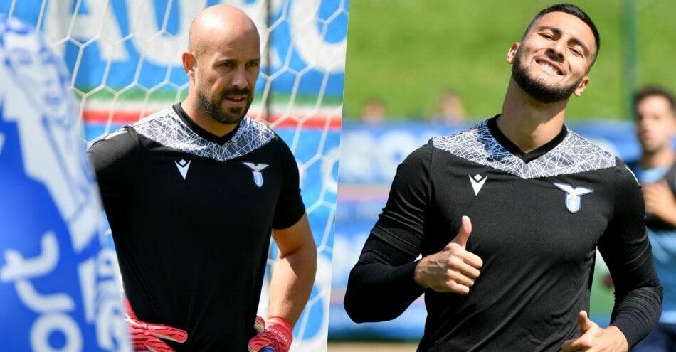 Lazio, portieri a lavoro: Reina e Strakosha, che impegno!