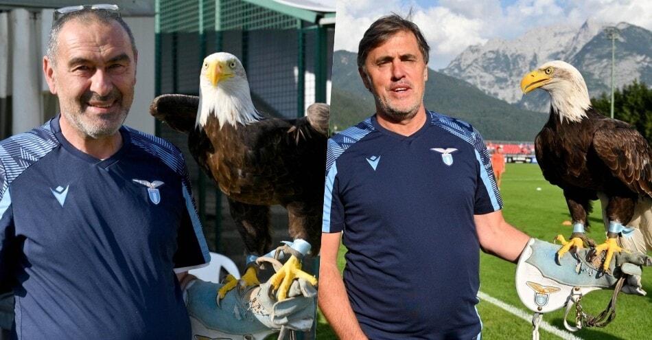 Lazio, Sarri e la foto portafortuna con Olympia