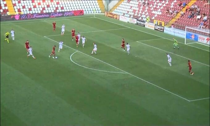 Triestina-Roma 0-1, gli highlights: segna Zalewski, Mourinho festeggia