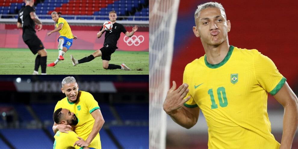 Brasile, Richarlison show: che tripletta alla Germania!
