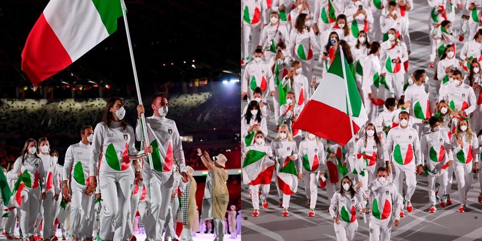 Olimpiadi, la sfilata dell'Italia alla cerimonia d'apertura