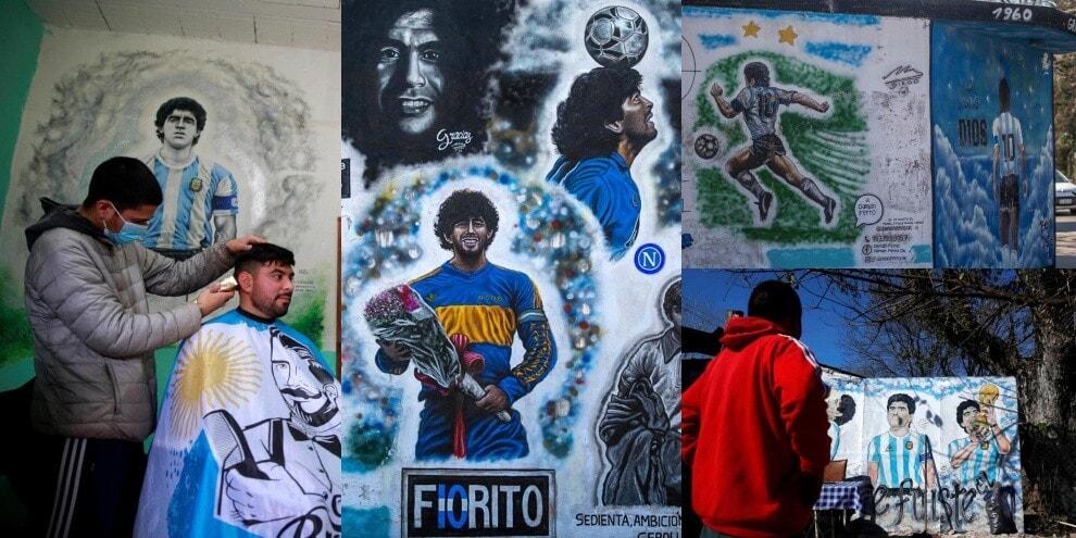 Maradona, in Argentina spuntano nuovi murales!