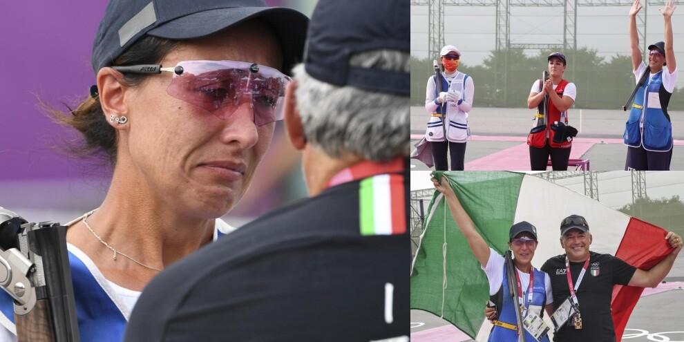 Olimpiadi, Bacosi in lacrime dopo l'argento nello skeet femminile