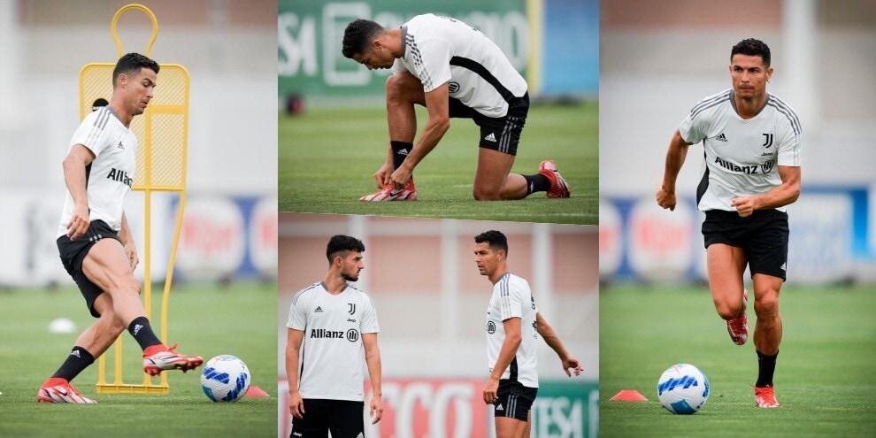 Juve, ecco la Ronaldo Cam: l'allenamento di CR7