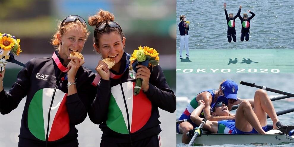 Rodini e Cesarini, che gioia per l'oro nel canottaggio femminile!