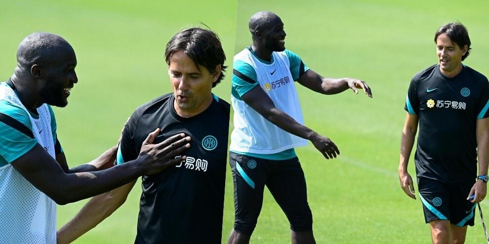 A casa Inter il siparietto tra Lukaku e Inzaghi