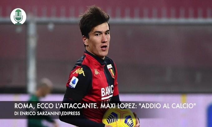"""Roma, in arrivo l'attaccante. Maxi Lopez: """"Addio al calcio"""""""