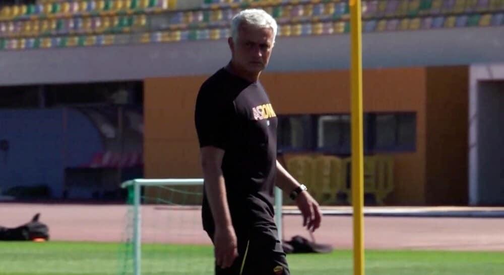 Roma, le immagini esclusive dell'allenamento in Portogallo