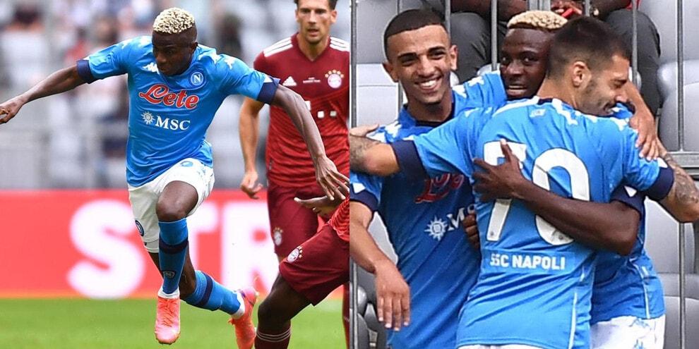 Napoli, Osimhen show: super doppietta contro il Bayern