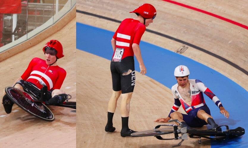 Olimpiadi, che scontro nell'inseguimento a squadre di ciclismo
