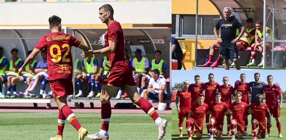 Mourinho felice, vittoria per la Roma in Portogallo