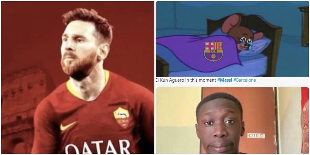 Messi lascia il Barcellona e i social si scatenano. I tifosi del City sognano...FOTO