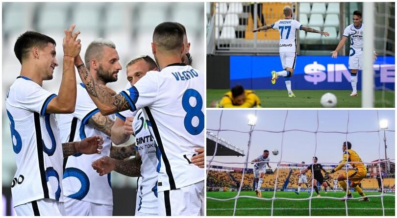 Inter, Brozovic e Vecino in gol: Inzaghi batte il Parma